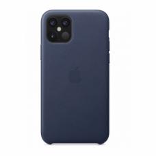 Кожаный чехол Apple Leather Case Midnight Blue для iPhone 12 Max