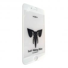 Защитное стекло Moxom для iPhone 7/8 белого цвета.