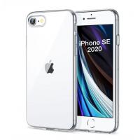 Толстый силиконовый прозрачный чехол для iPhone SE 2