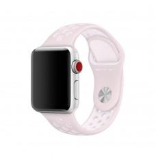 Силиконовый ремешок для Apple Watch 38/40/42/44мм Nike Sport Band barely rose-pearl   pink (копия)