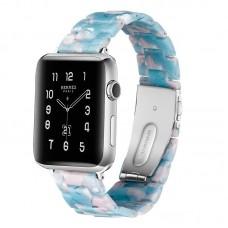 Ремешок для Apple watch 42/44mm Resin band White Blue (Небесно голубой)