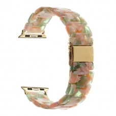 Ремешок для Apple watch 42/44mm Resin band Pink Green (Розово-зеленый)