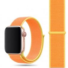 Ремешок для Apple Watch 42/44mm Nylon Sport Loop Canary Yellow