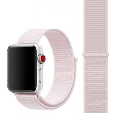 Ремешок для Apple Watch 42/44mm Nylon Sport Loop Pearl Pink