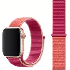 Ремешок для Apple Watch 42/44mm Nylon Sport Loop Pomegrante