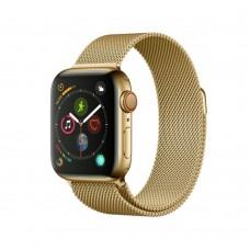 Ремешок для Apple Watch Milanese loop 38/42мм Light Gold