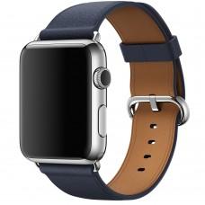 Ремешок Apple watch 42/44mm Classic Buckle Leather midnight blue