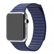 Ремешок для Apple Watch Leather loop 38/42мм Темно-синий