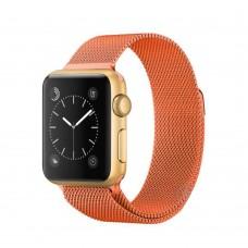 Ремешок для Apple Watch Milanese loop 38/42мм Lime Orange