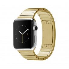 Ремешок Apple watch 42/44mm Link Bracelet Gold (копия)