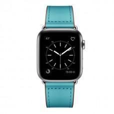 Кожаный ремешок для Apple Watch 42/44mm Rivet Clasp Blue