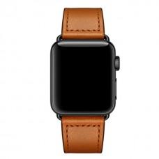 Кожаный ремешок для Apple Watch 42/44mm Rivet Clasp Saddle Brown