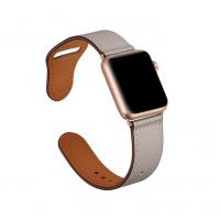 Кожаный ремешок для Apple Watch 42/44mm Rivet Clasp Stone