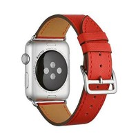 Кожаный ремешок Apple watch 42/44mm Hermès New Leather Orange (копия)
