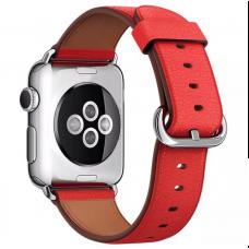 Ремешок Apple watch 42/44mm Classic Buckle Leather Red