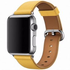 Ремешок Apple watch 42/44mm Classic Buckle Leather Yellow