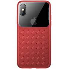 Чехол для iPhone X/Xs Baseus Weaving Case Red