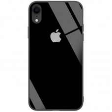 Чехол для iPhone Xr Glass Full Color Logo Case Black (Черный)