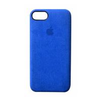 Премиум чехол Alcantara Case Full Blue (Синий) для iPhone 7/8