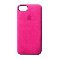 Премиум чехол Alcantara Case Full Pink (Розовый) для iPhone 7/8