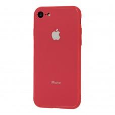 Чехол для iPhone 7/8 Glass Pastel Color Logo Camelia