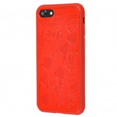 Чехол iPhone 7/8 Mickey Mouse Leather Red