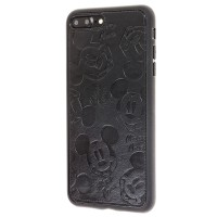 Чехол iPhone 7 Plus/ 8 Plus Mickey Mouse Leather Black