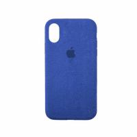 Стильный чехол Alcantara Full Cover для Blue для iPhone Xs Max