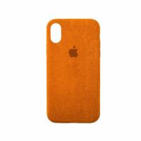 Стильный чехол Alcantara Full Cover для Orange для iPhone Xs Max