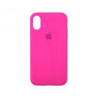 Стильный чехол Alcantara Full Cover для Pink для iPhone Xs Max