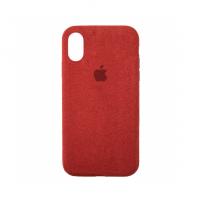 Стильный чехол Alcantara Full Cover для Red для iPhone Xs Max