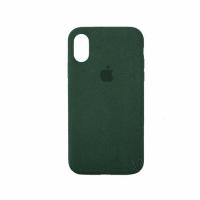 Стильный чехол Alcantara Full Cover для Green для iPhone Xs Max