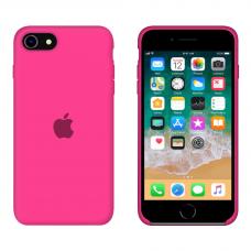Силиконовый чехол Apple Silicone Barbie Pink для iPhone SE 2 с закрытым низом