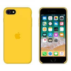 Силиконовый чехол Apple Silicone Canary Yellow для iPhone SE 2 с закрытым низом