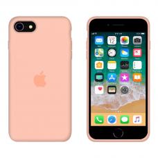 Силиконовый чехол Apple Silicone Grapefruit для iPhone SE 2 с закрытым низом