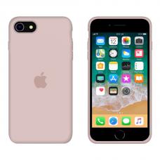 Силиконовый чехол Apple Silicone Pink Sand для iPhone SE 2 с закрытым низом