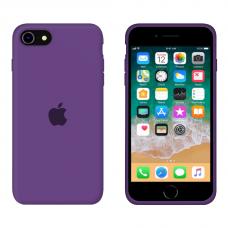 Силиконовый чехол Apple Silicone Purple для iPhone SE 2 с закрытым низом