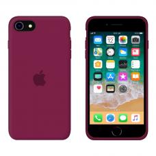 Силиконовый чехол Apple Silicone Rose Red для iPhone SE 2 с закрытым низом