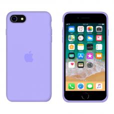 Силиконовый чехол Apple Silicone Violet для iPhone SE 2 с закрытым низом
