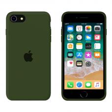 Силиконовый чехол Apple Silicone Virid для iPhone SE 2 с закрытым низом