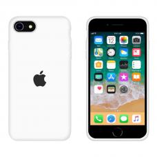 Силиконовый чехол Apple Silicone White для iPhone SE 2 с закрытым низом