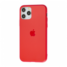 Чехол для iPhone 11 Pro Silicone Logo Case Matte Red