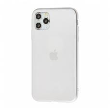 Чехол для iPhone 11 Pro Silicone Logo Case Matte Silver
