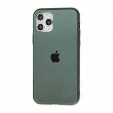 Чехол для iPhone 11 Pro Silicone Logo Case Matte Green