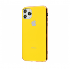 Чехол Silicone Logo Case для iPhone 11 Pro Max Yellow