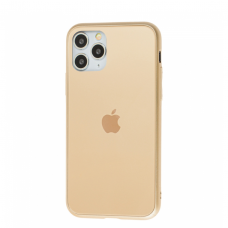 Чехол для iPhone 11 Pro Max Silicone Logo Case Matte Gold