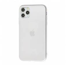 Чехол для iPhone 11 Pro Max Silicone Logo Case Matte Silver