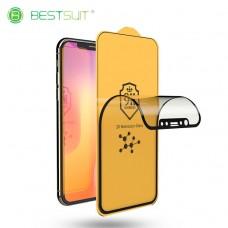 Защитное гибкое стекло BestSuit 0,3мм Flexible Glass Nano 3D для iPhone Xr/11