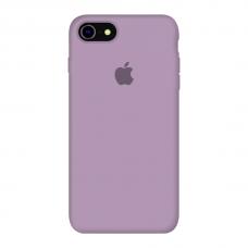 Силиконовый чехол c закрытым низом Apple Silicone Case Amethyst для iPhone 7/8
