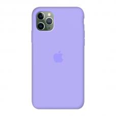 Силиконовый чехол c закрытым низом Apple Silicone Case Violet для iPhone 11 Pro